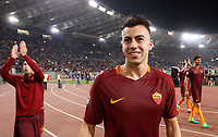 Calcio, Serie A: Roma vs Juventus. Roma, stadio Olimpico, 14 maggio 2017. <br /> Roma's Stephan El Shaarawy smiles to fans at the end of the Italian Serie A football match between Roma and Juventus at Rome's Olympic stadium, 14 May 2017. Roma won 3-1.<br /> UPDATE IMAGES PRESS/Riccardo De Luca