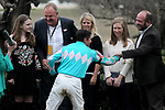 HOT SPRINGS, AR - FEBRUARY 19: Jockey Kent Desormeaux, in winners circle after winning the Southwest Stakes at Oaklawn Park on February 19, 2018 in Hot Springs, Arkansas. (Photo by Justin Manning/Eclipse Sportswire/Getty Images)