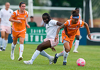 St. Louis Athletica defender Tina Ellertson (8) battles for the ball with Sky Blue FC forward Natasha Kai (6) during a WPS match at Anheuser-Busch Soccer Park, in St. Louis, MO, June 7 2009.  Athletica won the match 1-0.