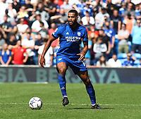 28th August 2021; Cardiff City Stadium, Cardiff, Wales;  EFL Championship football, Cardiff versus Bristol City; Curtis Nelson of Cardiff City turns upfield