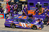 Monster Energy NASCAR Cup Series<br /> GEICO 500<br /> Talladega Superspeedway, Talladega, AL USA<br /> Sunday 7 May 2017<br /> Denny Hamlin, Joe Gibbs Racing, FedEx Express Toyota Camry<br /> World Copyright: Nigel Kinrade<br /> LAT Images<br /> ref: Digital Image 17TAL1nk06164