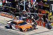 2017 NASCAR Monster Energy Cup Series - Daytona 500<br /> Daytona International Speedway, Daytona Beach, FL USA<br /> Sunday 26 February 2017<br /> Daniel Suarez, ARRIS Toyota Camry pit stop<br /> World Copyright: Nigel Kinrade/LAT Images<br /> <br /> ref: Digital Image 17DAY2nk14464