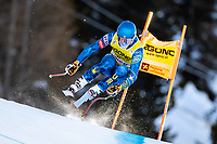 26th Deember 2020; Stelvio, Bormio, Italy; FIS World Cup Mens Downhill;   Ryan Cochran Siegle of the USA during his 1st training run for the mens downhill race of FIS ski alpine world cup at the Stelvio