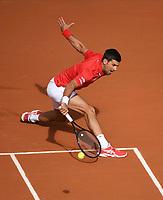 PARIS, FRANCE - OCTOBER 1 : Novak Djokovic (SRB) vs Ricardas Berankis(LTU) during second round match at the French open Roland Garros 2020 october 1, 2020 in Paris, France, 01/10/2020  <br /> Parigi 01/10/2020 Roland Garros <br /> Tennis Grande Slam 2020<br /> French Open <br /> Photo JB Autissier / Panoramic / Insidefoto <br /> ITALY ONLY