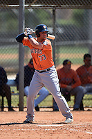 Houston Astros J.D. Davis (73) during a minor league spring training game against the Atlanta Braves on March 29, 2015 at the Osceola County Stadium Complex in Kissimmee, Florida.  (Mike Janes/Four Seam Images)