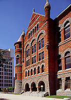"The historic """"Old Red Courthouse"""" (built 1890-1892), Dallas, Texas"