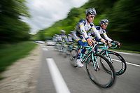 Vacansoleil-DCM Tour de France 2012 recon stage 10.Lieuwe Westra & Johnny Hoogerland leading the group