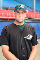 Southwest Michigan Devil Rays Mike Wlodarczyk poses for a photo before a Midwest League game at C.O. Brown Stadium on July 14, 2006 in Battle Creek, Michigan.  (Mike Janes/Four Seam Images)