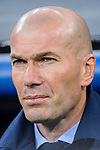 Manager Zinedine Zidane of Real Madrid prior to the UEFA Champions League 2017-18 quarter-finals (2nd leg) match between Real Madrid and Juventus at Estadio Santiago Bernabeu on 11 April 2018 in Madrid, Spain. Photo by Diego Souto / Power Sport Images