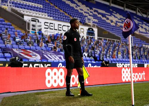 4th November 2020; Madejski Stadium, Reading, Berkshire, England; English Football League Championship Football, Reading versus Preston North End; Linesmen Akil Howson watches play