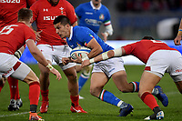 Liam Williams Wales, Tommaso Allan Italy<br />  <br /> Roma 9-02-2019 Stadio Olimpico<br /> Rugby Six Nations tournament 2019  <br /> Italy - Wales <br /> Foto Antonietta Baldassarre / Insidefoto