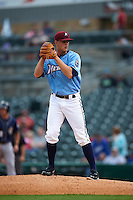 NW Arkansas Naturals pitcher Christian Binford (32) gets ready to deliver a pitch during a game against the San Antonio Missions on May 30, 2015 at Arvest Ballpark in Springdale, Arkansas.  San Antonio defeated NW Arkansas 5-2.  (Mike Janes/Four Seam Images)