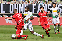 23rd May 2020, BORUSSIA-PARK, North Rhine-Westphalia, Germany; Bundesliga football, Borussia Moenchengladbach versus Bayer Leverkusen;  Sven Bender (Leverkusen) tackles Marcus Thuram (BMG)