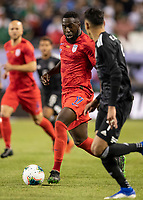 CHICAGO, IL - JULY 7: Jozy Altidore #17 makes a run during a game between Mexico and USMNT at Soldiers Field on July 7, 2019 in Chicago, Illinois.