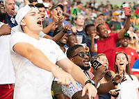 AUSTIN, TX - JULY 29: Fans during a game between Qatar and USMNT at Q2 Stadium on July 29, 2021 in Austin, Texas.