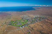 Aerial view of Waikoloa Village with N Kohala coast beyond