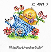 EASTER, OSTERN, PASCUA, paintings+++++,KL4569/3,#e#, EVERYDAY ,chicks,chicken ,sticker,stickers