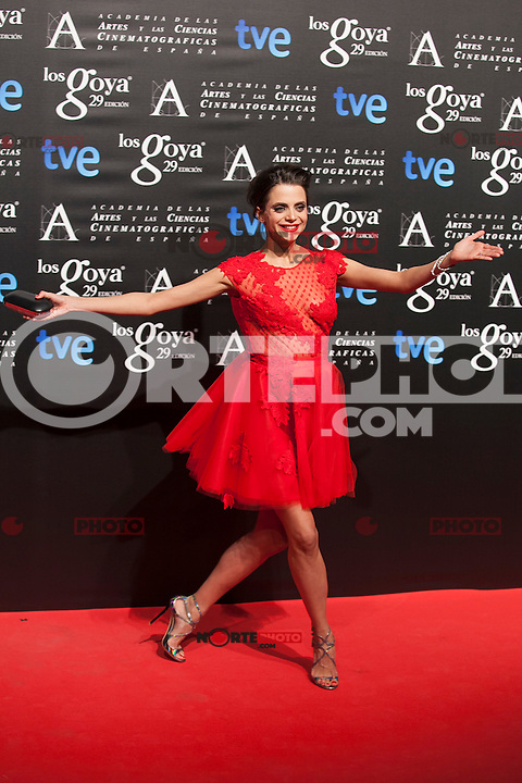 Macarena Gomez poses before the 2015 Goya Awards nominee ceremony in Madrid, Spain. January 19, 2015. (ALTERPHOTOS/Victor Blanco)