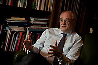 Sir Lezsek Borysiewicz, Vice Chancellor of Cambridge University photographed in his offices
