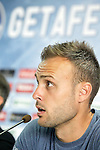 Getafe's new player Juan Cala during his official presentation. July 6, 2015. (ALTERPHOTOS/Acero)