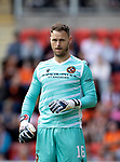 St Johnstone v Dundee United…22.08.21  McDiarmid Park    SPFL<br />Uniited keeper Trevor Carson<br />Picture by Graeme Hart.<br />Copyright Perthshire Picture Agency<br />Tel: 01738 623350  Mobile: 07990 594431