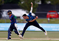 Nathan Gilchrist bowls for Kent during Kent Spitfires vs Lancashire, Royal London One-Day Cup Cricket at The Kent County Cricket Ground on 28th July 2021