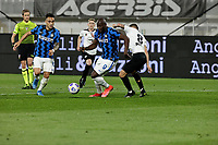 Lautaro Martinez of Inter Romelu Lukaku of Inter  during the  italian serie a soccer match,Spezia Inter Milan at  the STadio Picco in La Spezia Italy ,