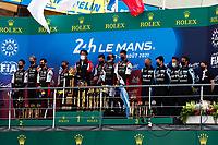 24 HEURES DU MANS OVERALL PODIUM<br /> 1ST: #7 TOYOTA GAZOO RACING (JPN) - TOYOTA GR010 HYPERCAR - MIKE CONWAY (GBR) / KAMUI KOBAYASHI (JPN) / JOSE MARIA LOPEZ (ARG)<br /> 2ND: #8 TOYOTA GAZOO RACING (JPN) - TOYOTA GR010 HYPERCAR - SEBASTIEN BUEMI (CHE) / KAZUKI NAKAJIMA (JPN) / BRENDON HARTLEY (NZL)<br /> 3RD: #36 ALPINE ELF MATMUT (FRA) - ALPINE A480 – GIBSON HYPERCAR - ANDRE NEGRAO (BRA) / MATTHIEU VAXIVIERE (FRA) / NICOLAS LAPIERRE (FRA)