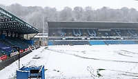 General view of Adam Park Stadium in the snow ahead of the FA Cup fixture Wycombe Wanderers v Tottenham Hotspur tomorrow evening - Snow and bad weather hits High Wycombe during the  at  on the 24 January 2021. Photo by Andy Rowland.