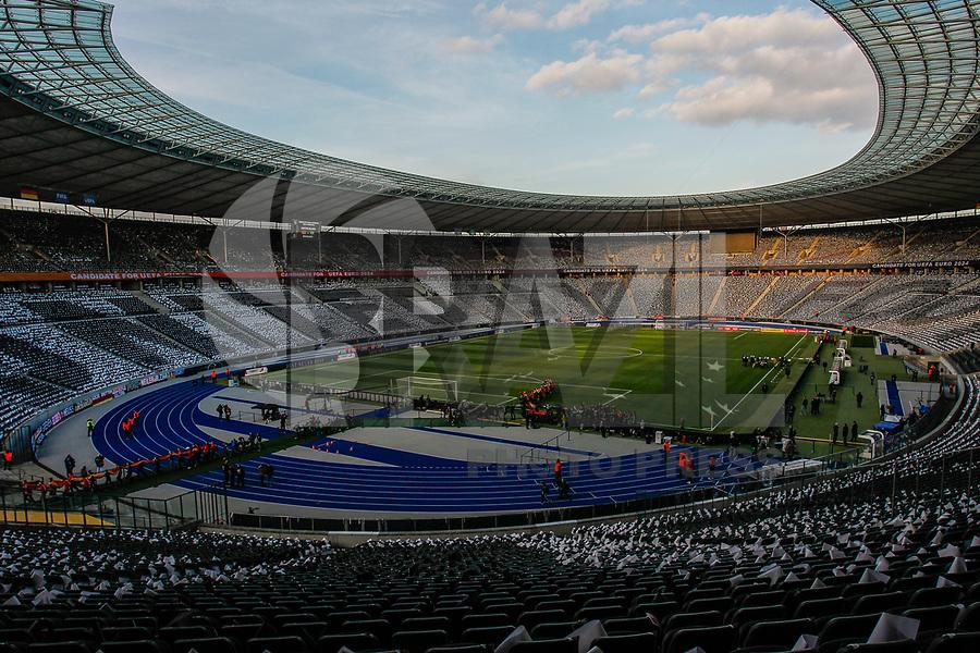 BERLIM, ALEMANHA, 27.03.2018 - ALEMANHA-BRASIL- Movimentação antes da partida Alemanha e Brasil no estádio Olímpico de Berlim neste terça-feira, 27. (Foto: Douglas Pingituro/Brazil Photo Press)