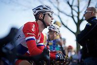 Lars Van der Haar (NLD/Giant-Shimano) at the start<br /> <br /> Koppenbergcross 2014