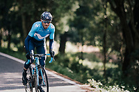 Alejandro Valverde (ESP/Movistar) attacks on ceveral occasions, thinning the group trying to follow him<br /> <br /> Trofeo Lloseta - Andratx: 140km<br /> 27th Challenge Ciclista Mallorca 2018