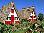 Portugal, Madeira, Santana: Casas de Colmo   Portugal, Madeira, Santana: Casas de Colmo