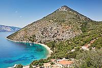 Pisaetos beach in Ithaki island, Greece