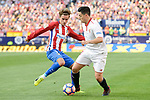 Atletico de Madrid's Antoine Griezmann and Sevilla's Samir Nasri during La Liga match between Atletico de Madrid and Sevilla CF at Vicente Calderon Stadium in Madrid, Spain. March 19, 2017. (ALTERPHOTOS/BorjaB.Hojas)