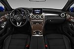 Stock photo of straight dashboard view of 2017 Mercedes Benz C-Class - 2 Door Convertible Dashboard