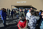 Carson City Sheriff's Sgt. Daniel Gonzales pairs up local heroes with students for the 11th annual Holiday with a Hero at Walmart in Carson City, Nev., on Wednesday, Dec. 16, 2015. <br /> Photo by Cathleen Allison
