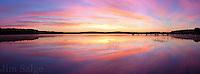 A beautiful sunrise over Lake Massabesic in Manchester, New Hampshire.