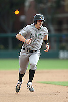 Brian Mundell #16 of the Cal Poly Mustangs runs the bases during a game against the USC Trojans at Dedeaux Field on March 2, 2014 in Los Angeles, California. Cal Poly defeated USC, 5-1. (Larry Goren/Four Seam Images)