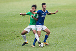 Siu Wai Chiu of Wofoo Tai Po (L) fights for the ball with Marko Krasic of Rangers (R) during the week three Premier League match between BC Rangers and Wofoo Tai Po at Sham Shui Po Sports Ground on September 17, 2017 in Hong Kong, China. Photo by Marcio Rodrigo Machado / Power Sport Images