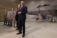 Vice President Mike Pence visits n Joint Base Elmendorf-Richardson, AK, on, Monday, February 5, 2018, i. (Official White House Photo by D. Myles Cullen)