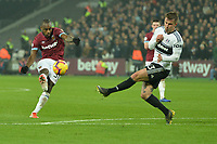 Michail Antonio of West Ham United shoots over the bar during West Ham United vs Fulham, Premier League Football at The London Stadium on 22nd February 2019