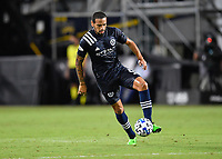 LAKE BUENA VISTA, FL - AUGUST 01: Alexander Callens #6 of New York City FC controls the ball during a game between Portland Timbers and New York City FC at ESPN Wide World of Sports on August 01, 2020 in Lake Buena Vista, Florida.