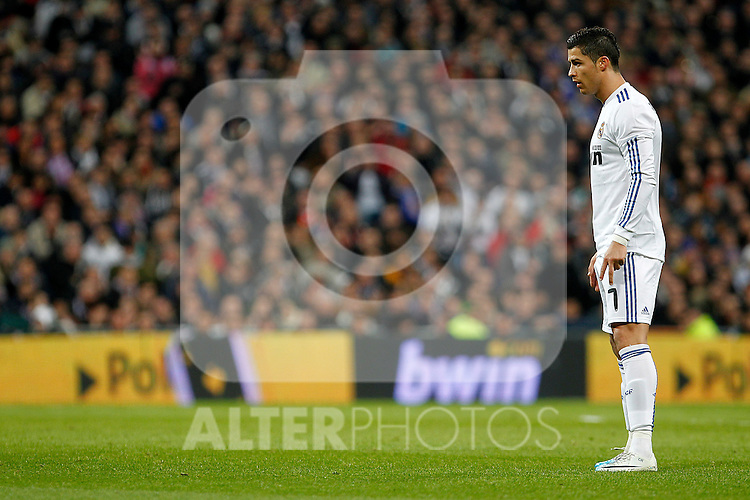 Real Madrid's Cristiano Ronaldo during Spanish King's Cup match.February 2,2011.(ALTERPHOTOS/Acero)