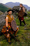 'THE CLAN' GROUP RE-ENACTMENT OF ANCIENT SCOTTISH BATTLES,