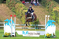 5th September 2021; Bicton Park, East Budleigh Salterton, Budleigh Salterton, United Kingdom: Bicton CCI 5* Equestrian Event; Pippa Funnell riding Billy Walk On goes clear at The Voltaire fence