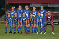 team of AA Gent Ladies pictured during a female soccer game between RSC Anderlecht Dames and AA Gent Ladies  on the fourth matchday of the 2021 - 2022 season of Belgian Womens Super League , friday 10 th of September 2021 in Overijse , Belgium . PHOTO SPORTPIX | DIRK VUYLSTEKE
