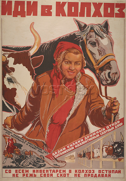 Go to the collective farms. 1919-1921<br /> General Political Poster Series, 1919-1930 and undated
