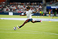 HOUSTON, TX - JUNE 13: Catarina Macario #11 of the United States warming up before a game between Jamaica and USWNT at BBVA Stadium on June 13, 2021 in Houston, Texas.