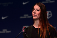 Philadelphia, PA - Thursday January 18, 2018: Yael Averbuch during the 2018 NWSL College Draft at the Pennsylvania Convention Center.